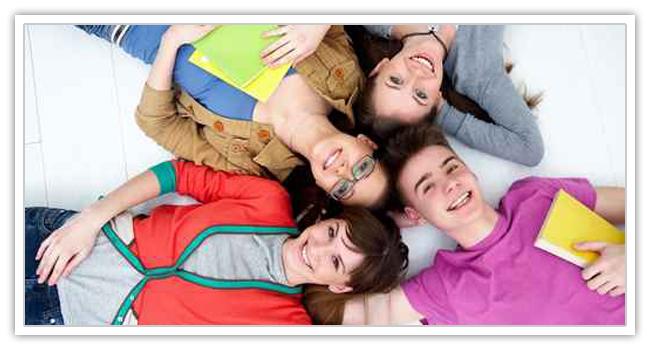 group of teenage friends