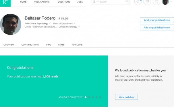 Baltasar Rodero, Psicologo Santander, Researchgate
