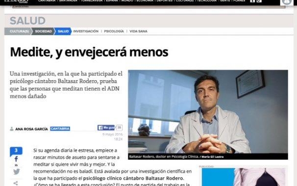 Baltasar Rodero entrevistado en el Diario Montañés